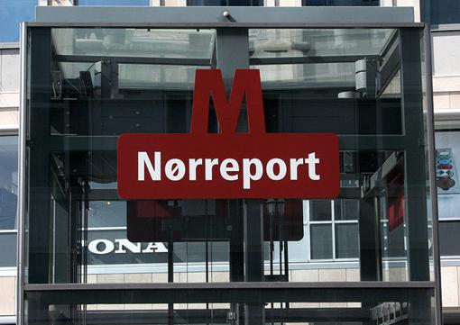 Знак метрополитена Копенгагена